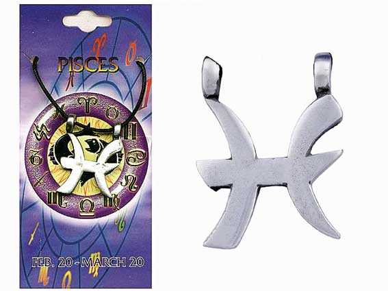 Astrological Pewter Pendant – PISCES